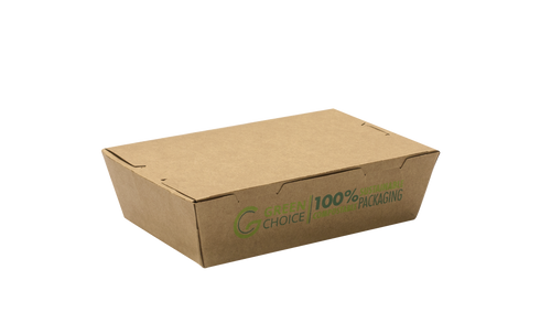 Compostable Kraft Food Carton (Small, Medium, Large)