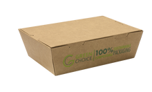 Compostable Kraft Takeaway Carton (Small, Medium, Large)