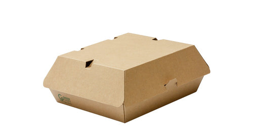 Compostable Kraft Burger Box F-Flute Large