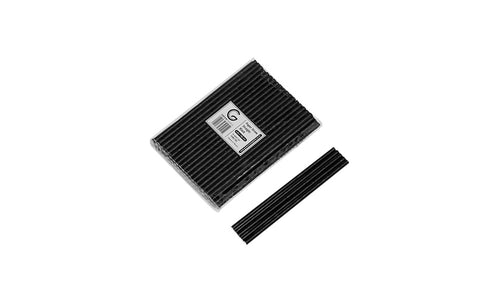 Paper Black Drinking Straws 5mm dia x 140 mm (L)