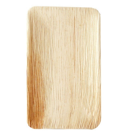 PALM LEAF PLATE RECTANGULAR 15 x 23 CM x 25