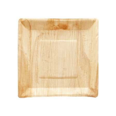PALM LEAF PLATE SQUARE 25  CM x 25
