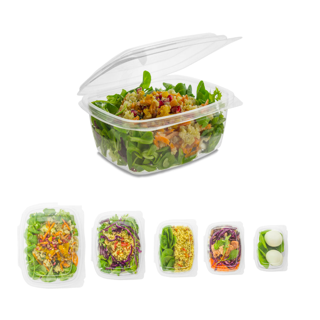 PLA Hinged Deli Food Container 300ml, 450ml, 600ml, 800ml, 1000ml, 1500ml