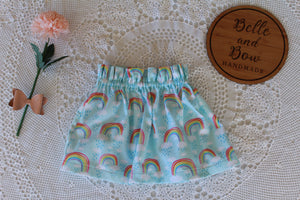 Rainbow Paper-bag Skirt