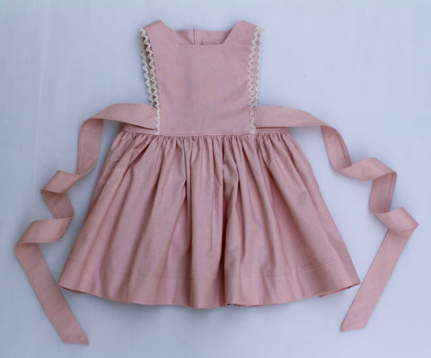 Powder Pink Bib Dress