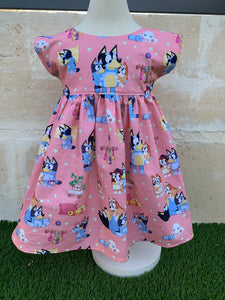 Size 4 Ready made Pink 'Bluey' dress