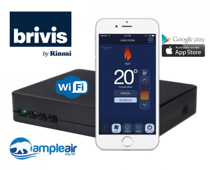 Brivis WiFi Kit with Rinnai Touch Smartphone App - Ducted Heater, Evap, Add-on