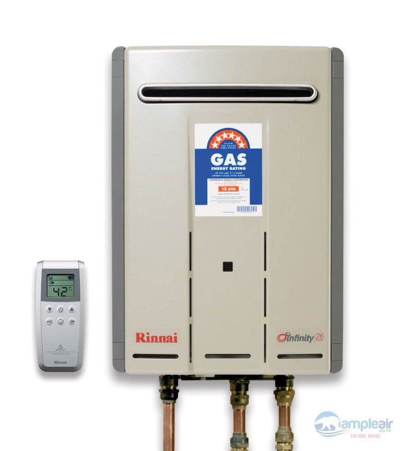 Rinnai Infinity Touch 26 Continuous Flow Hot Water - INF26TN50M Natural Gas 50°