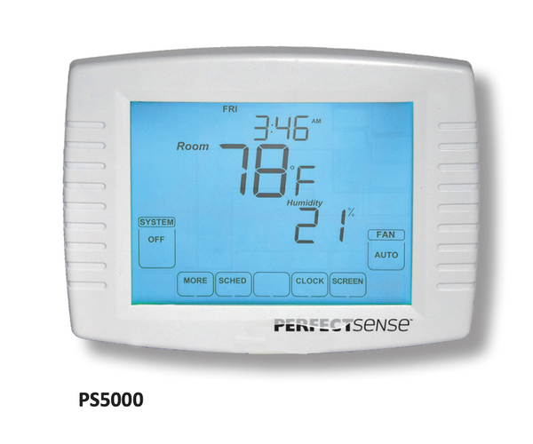 PS5000 Series Touchscreen Programmable Thermostat