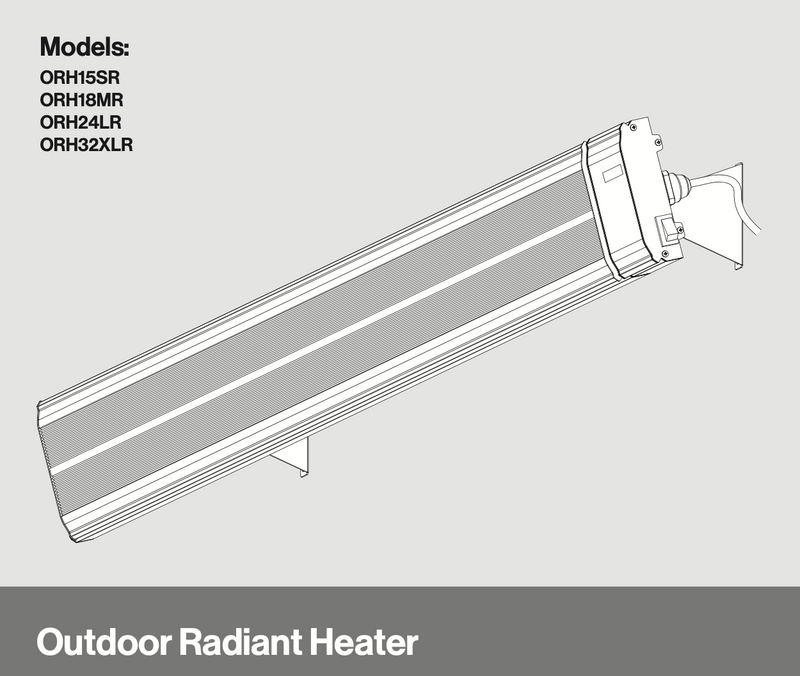 Rinnai Outdoor Radiant Heater With Remote Control - Large 2400W