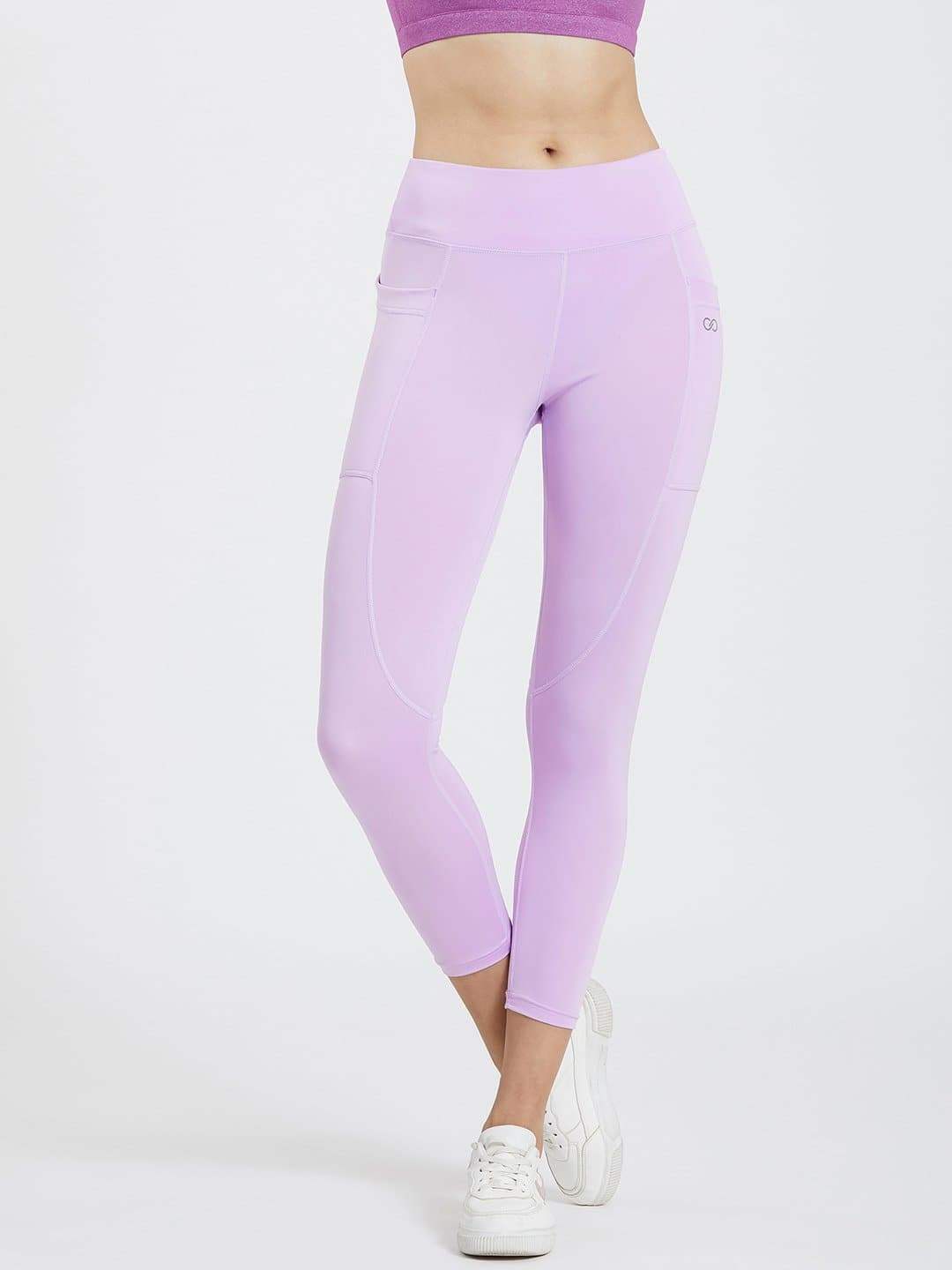 Lavender Violet Pockets Leggings