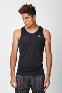 Active Hooded Sleeveless Black T-shirt