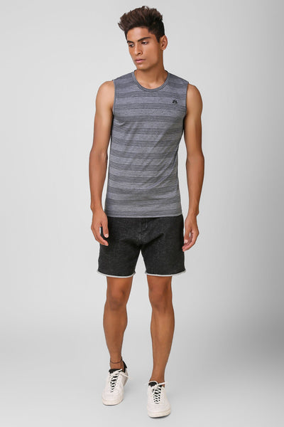 Active Striped Sleeveless Tshirt