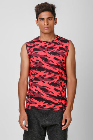 Camo Print Stretchable Sleeveless Tshirt 5