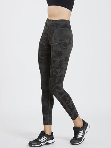Camo Printed Pockets Leggings