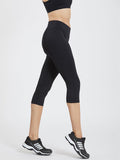 Maxtreme Power Me Black Pocket Capri Leggings