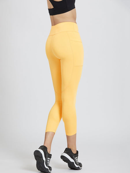 Mustard Yellow Pockets Leggings