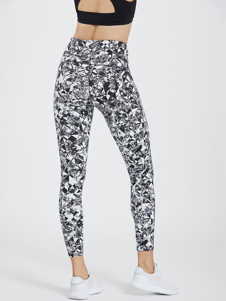 Black & White Printed Pockets Leggings