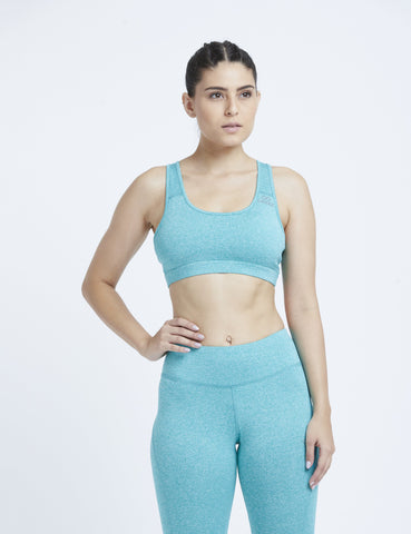 Seafoam Green Marl Hardcore Sports Bra