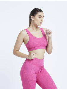 Fuscia Marl Hardcore Sports Bra