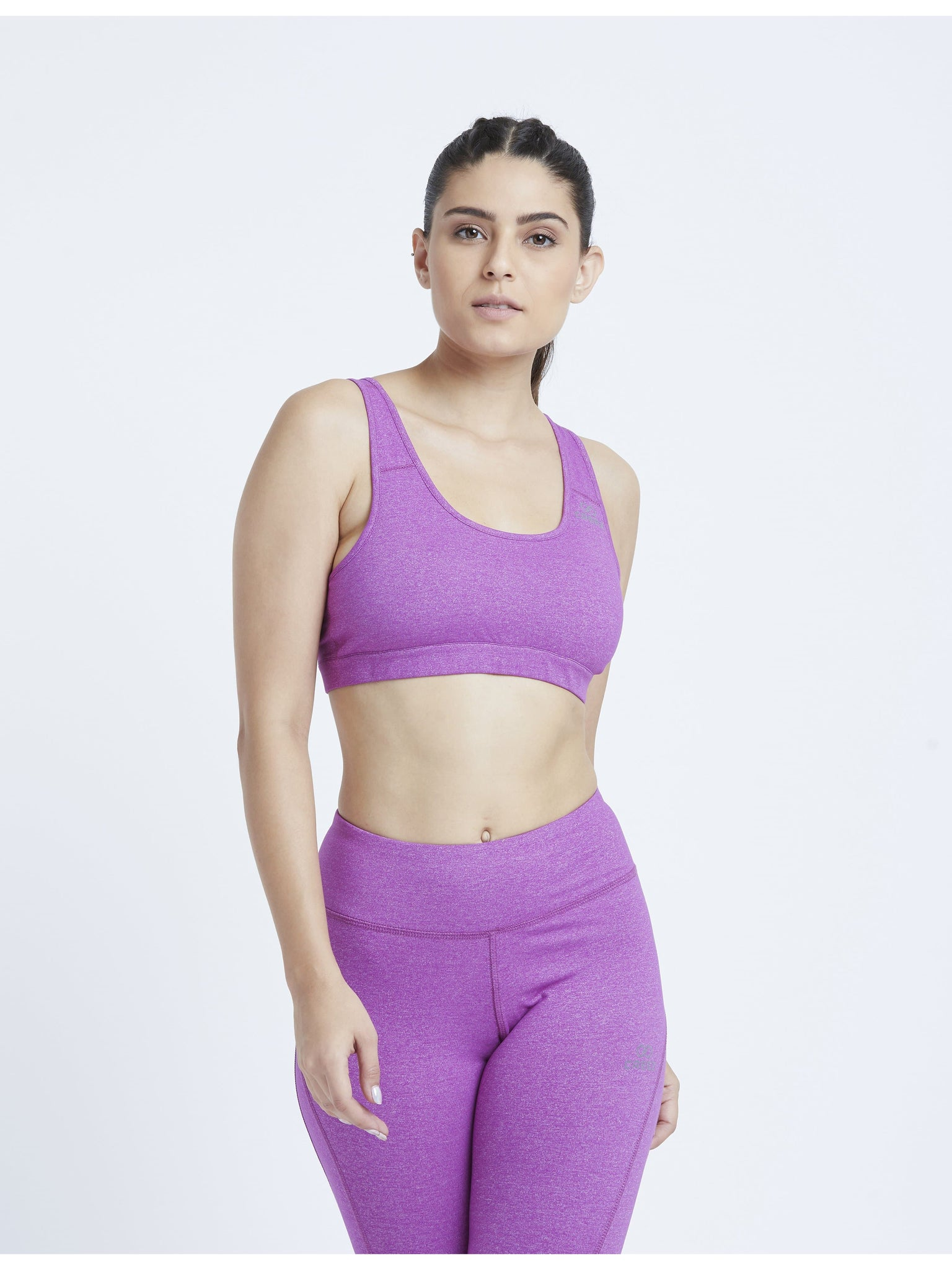 Lilac Marl Hardcore Sports Bra
