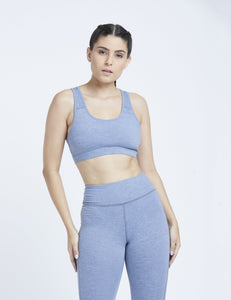 Steel Blue Marl Hardcore Sports Bra