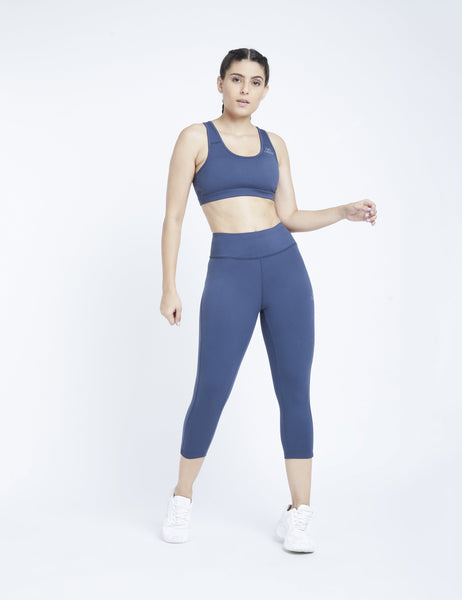 Denim Blue Hardcore Sports Bra