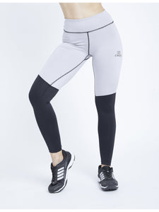 Color Block Grey Black F/L Leggings