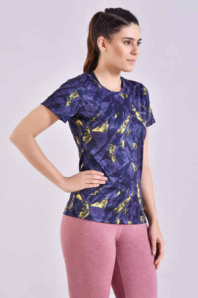 Purple Abstract Printed Top