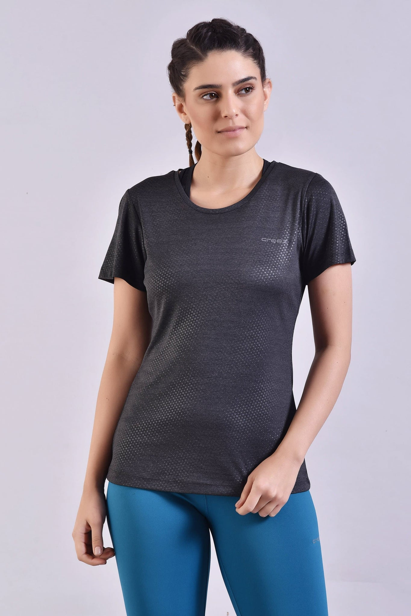 Dark Grey Embossed Top