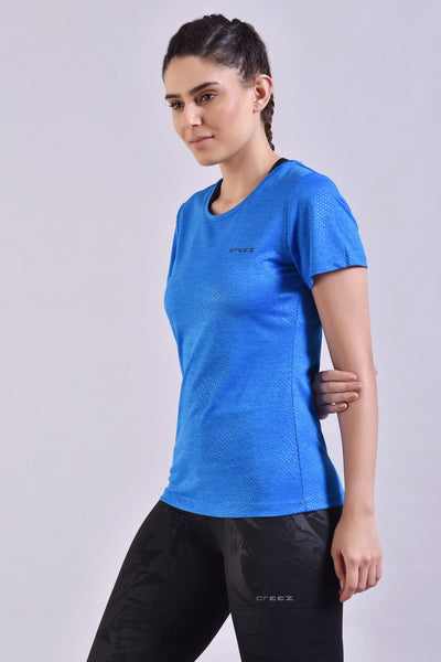 Electric Blue Embossed Top