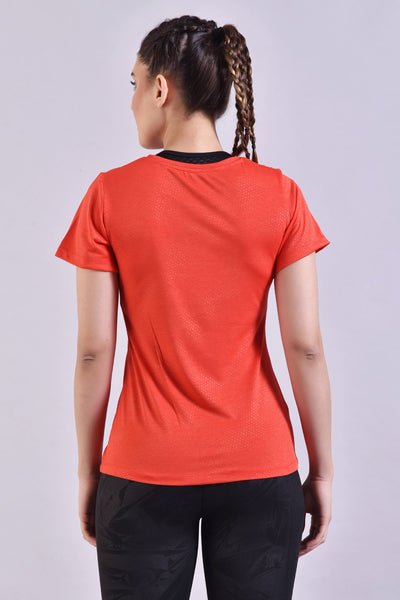 Vermilion Embossed Top