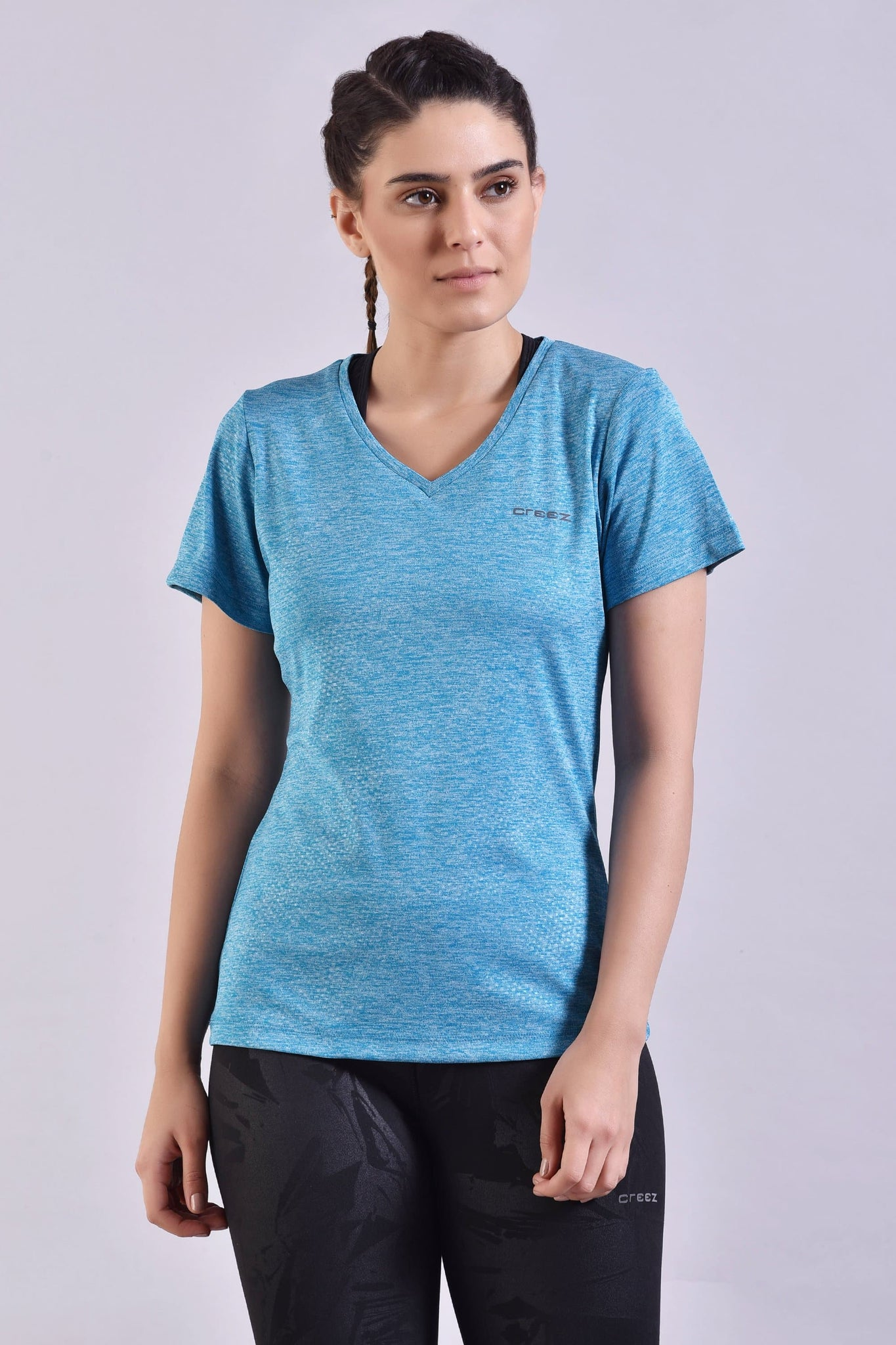 Dodger Blue Embossed Top