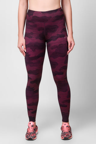Camo Printed F/L Leggings