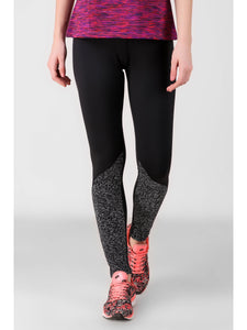 Print Block Black Leggings-03