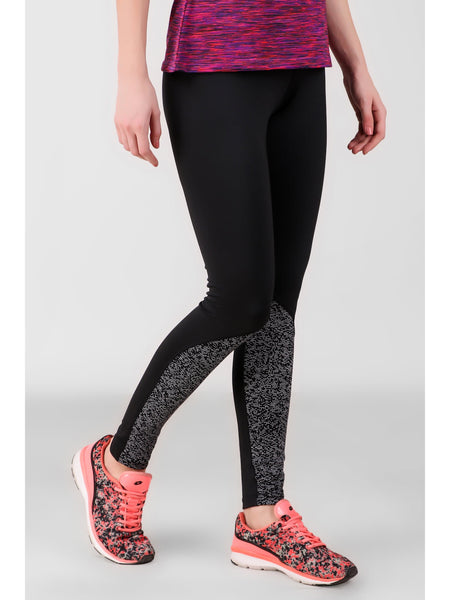 Print Block Black Leggings-