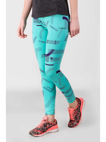 Mint Geometrical Printed Leggings