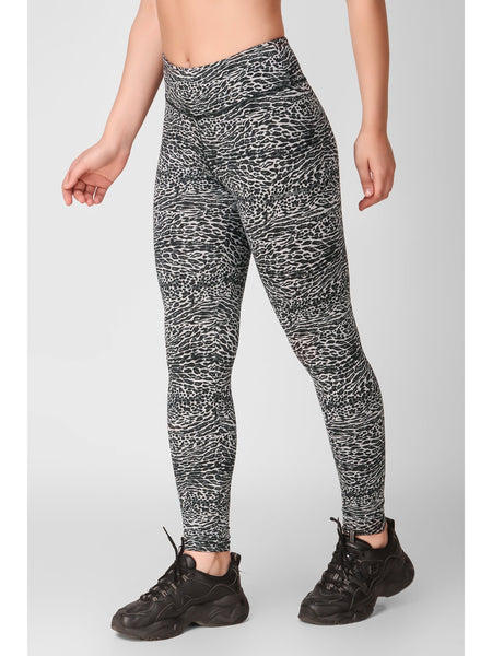 Leopard Printed F/L Leggings