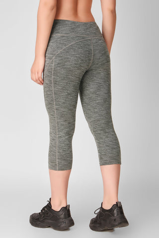 Grey Marl Hardcore 3/4 Leggings