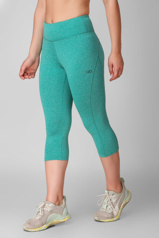 Seafoam Green Marl Hardcore 3/4 Leggings
