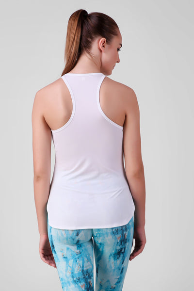 Shoulder Slit Stretchable Tank Top