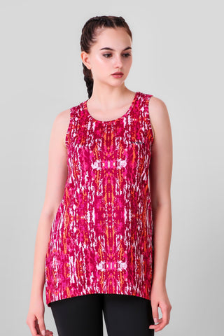 Abstract Print Stretchable Tank Top