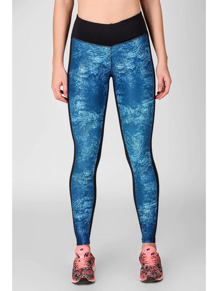 Front Paneled Printed Leggings