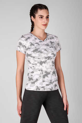 Criss Cross Printed Top