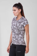 Abstract Print Jacquard Top