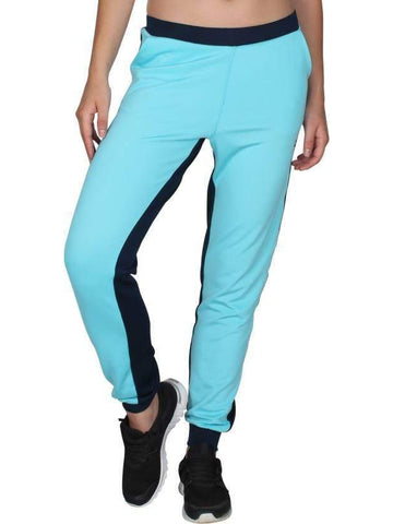 Blue Black Stretchable Joggers