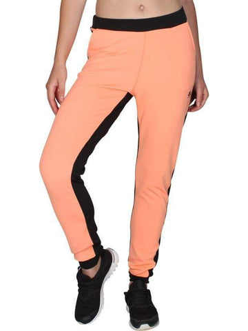 Peach Black Stretchable Joggers
