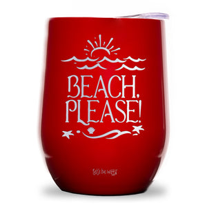 Beach, Please Wine Tumbler