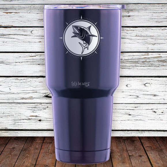 Fish Compass 30oz Tumbler