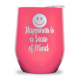 Happiness is a State of Mind Wine Tumbler